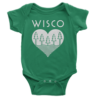 The Wisco Roots Green Onesie