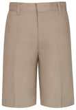 Boys Slim Flat Front Shorts - Khaki