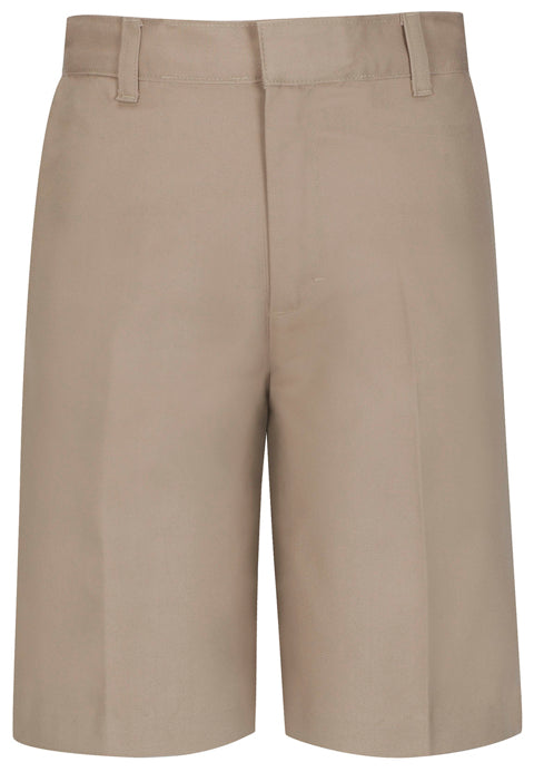 Boys Slim Flat Front Shorts - Khaki *CLEARANCE Sale*