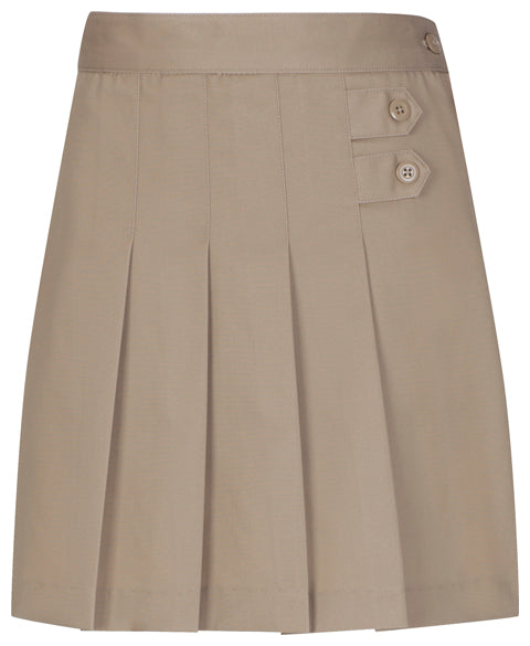 Girls/Juniors  Pleated Scooter- khaki *CLEARANCE Sale*