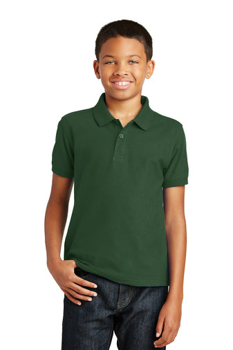 Youth Short Sleeve Polo with SJS Logo