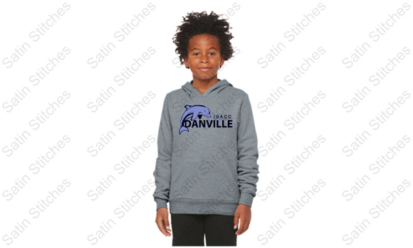 Dolphins Bella Heather Gray Youth Hoodie