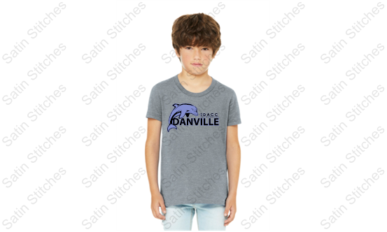 Dolphins Youth Heather Gray T-Shirt