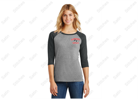 Bloomsburg Ladies 3/4 Sleeve T-Shirt with Printed Left Chest
