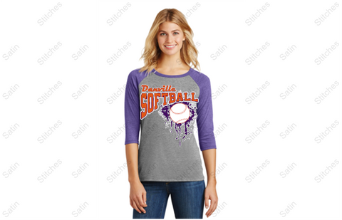 District ® Perfect Tri ® 3/4-Sleeve Raglan ladies fit