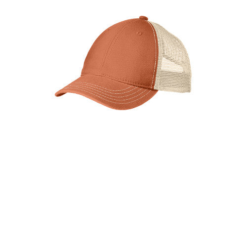 Emroidered Soft Mesh Back Hat with White D