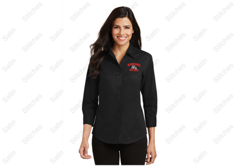 Bloomsburg Ladies 3/4 Sleeve Shirt with Stitched Left Chest
