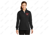 Bloomsburg Ladies 1/4 Zip Sweatshirt with Stitched Left Chest