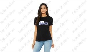 Dolphins Ladies Black T-Shirt