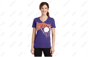 Danville softball Ladies V-neck T-shirt