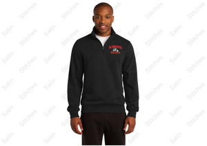 Bloomsburg Unisex 1/4 Zip Sweatshirt with Stitched Left Chest