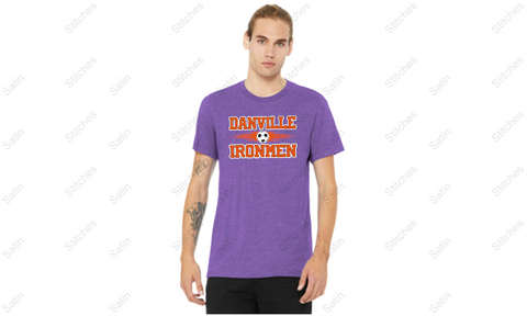 Unisex Heather Purple T-Shirt with Print