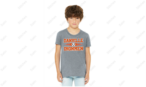 Youth Heather Gray T-Shirt with Soccer Print