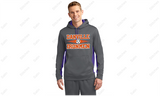 Unisex 2 Color Gray/Purple Performance Hoodie with Soccer Print