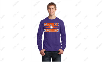 Unisex Purple Long Sleeve T-Shirt with Print