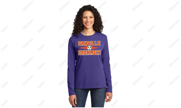 Ladies Purple Long Sleeve T-Shirt with Print