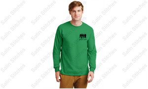 Danville Drama Unisex Green Long Sleeve T-Shirt with Wizard of Oz logo