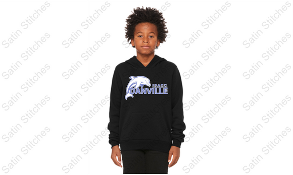 Dolphins Bella Black Youth Hoodie