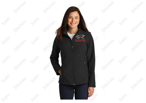 Red Roof Ladies Soft Shell Jacket - Black
