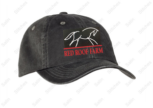 Red Roof Garmet Washed Cap