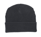 Graphite knit hat, will include embroidered band logo