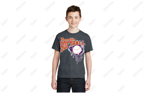 Danville softball T-shirt in youth sizes