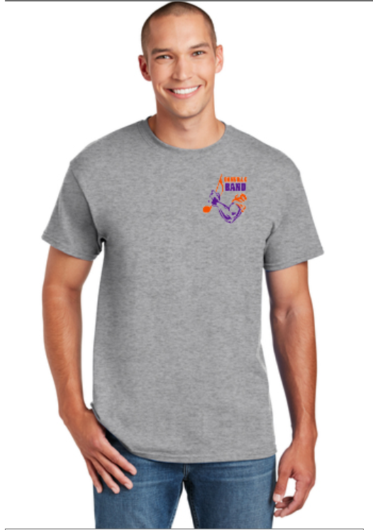 Short Sleeve T-shirt with Left Chest Band Logo Printed