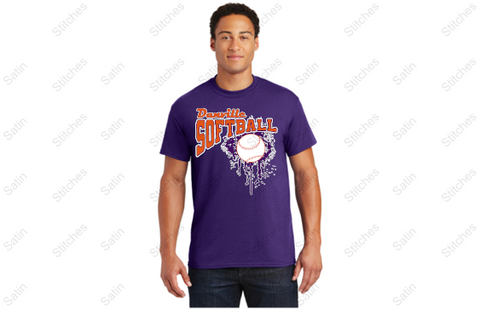 Danville softball  performance T-shirt
