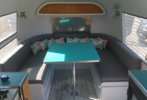 Custom cushions for Airstream trailer