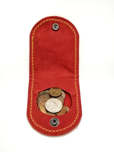 COIN WALLET IN RED BUFFALO