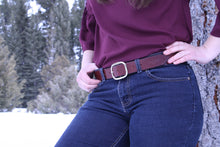 "English Bridle Belt - Oxblood 1.5"" Wide"