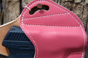 HOLSTER - Ruger LC9/LC9S Custom Pink Leather with White Stitching