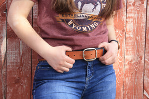 "English Bridle Belt - Butterscotch Tan 1.5"" Wide"