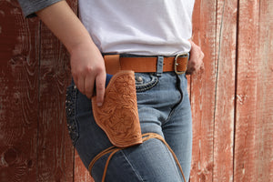 """Say When"" Holster - Custom fit for Ruger SP101 - Wild Flowers"