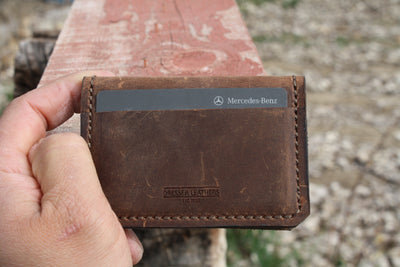 Pilot Wallet in Cocoa Brown Distressed Leather