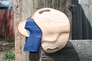 HOLSTER - S&W Shield - Natural Vegetable Tan with White Stitching