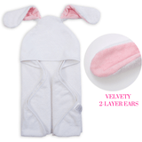 Baby Bamboo Hooded Towel & 2 Washcloths, Rosie Bunny Design