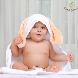 Bamboo Amber Bunny Hooded Towel & 2 Washcloths