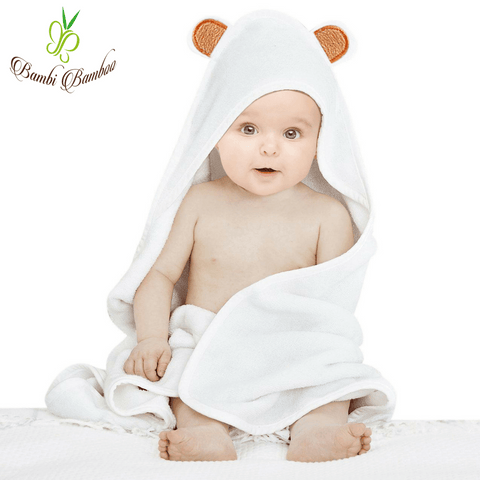 Bamboo Baby Hooded Towel Bear