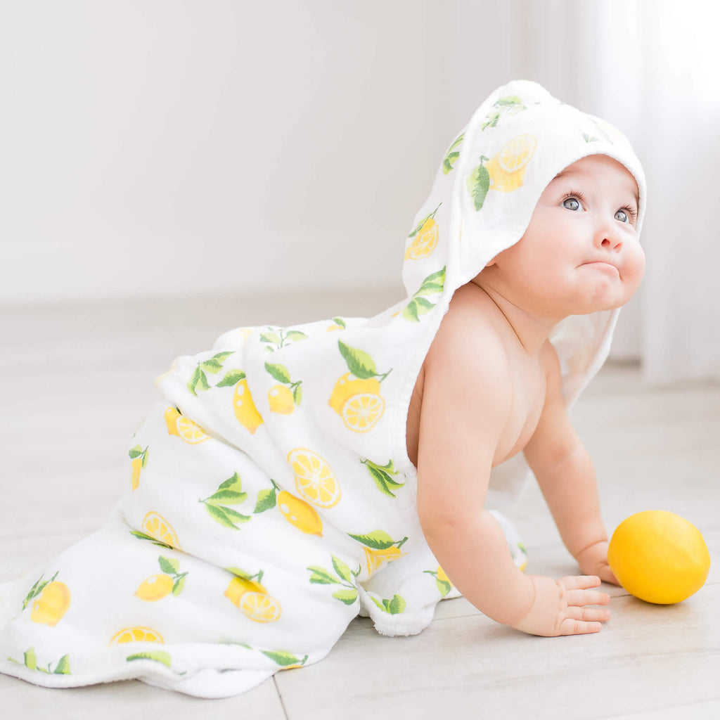 Bamboo Lemon Hooded Towel