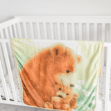Bamboo Minky Bear Blanket - Double Layers - Let Me Love You A Little More