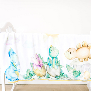 Bamboo Minky Dinosaur Blanket - Double Layers - You Are My Sunshine