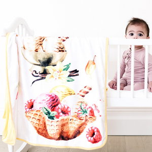 Bamboo Minky Ice Cream Blanket - Double Layers - Sunday Sundae