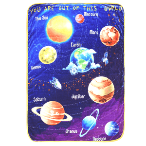 Bamboo Minky Space Blanket - Double Layers - You Are Out Of This World