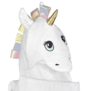Bamboo White Unicorn Hooded Towel