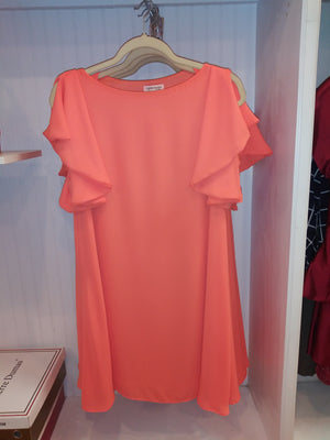 Carole Christian Orange Dress