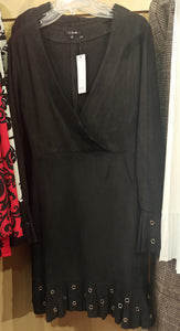 C+D+M Black Dress with Eyelet Holes