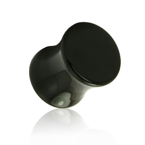 Black Color Solid UV Acrylic Saddle Plugs-Glitters-New Zealand