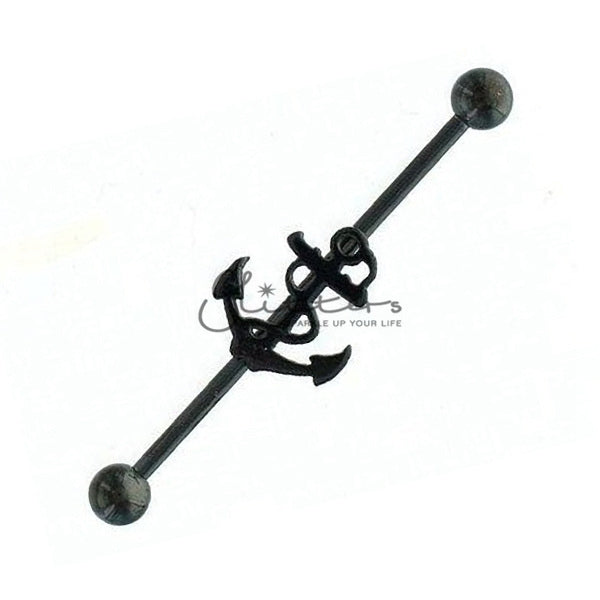 14GA 316L Surgical Steel Anchor Industrial Barbells-Glitters-New Zealand