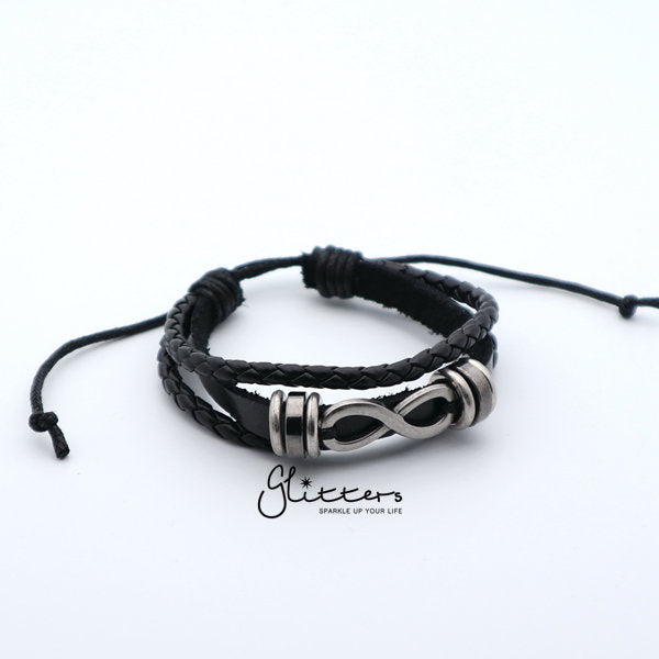 Classic Multilayer Infinity Leather Bracelet-Glitters-New Zealand